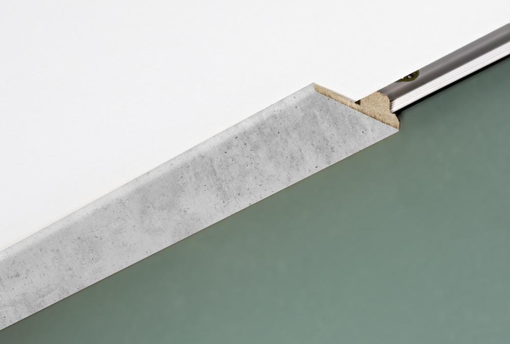 Decor modern ceiling moulding with rail