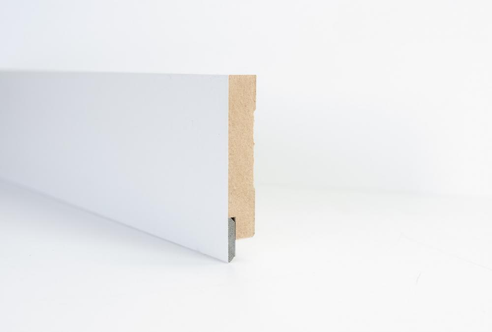 Water resistant MDF skirting with PVC insert